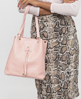 Picture of 2 Piece Shopper Bag - Pink