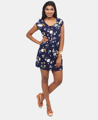 Picture of Floral Dress - Navy
