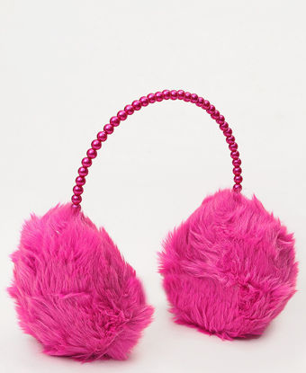 Picture of Fluffy Earmuffs  - Fuschia
