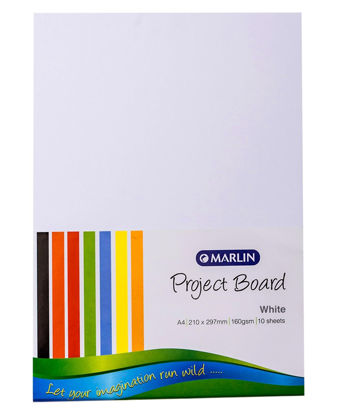 Picture of Marlin 10 Pack A4 Project Boards - White