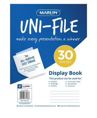 Picture of Marlin 30 Pages Unifile Display Book - Clear