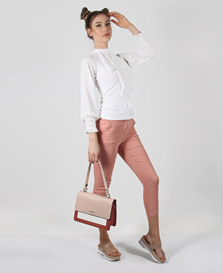 Picture of Mid Rise Skinny Pants - Coral
