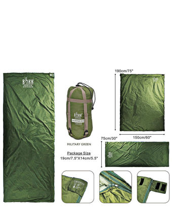 Picture of Nylon Compactable Sleeping Bag - Green