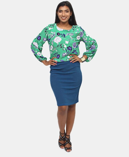 Picture of Pencil Skirt - Blue