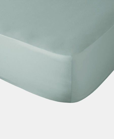 Picture of Polycotton Fitted Sheet - Duck Egg