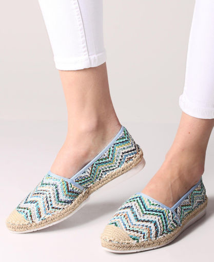 Picture of Printed Espadrille Pumps - Blue