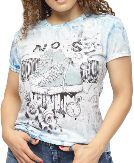 Picture of Printed T-Shirt - Blue