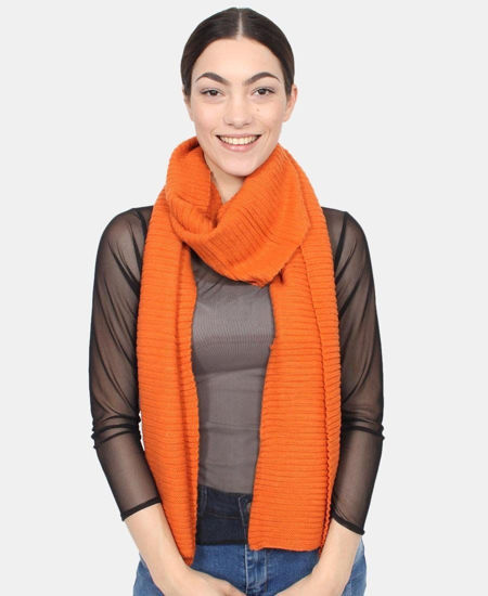 Picture of Ribbed Scarf - Orange