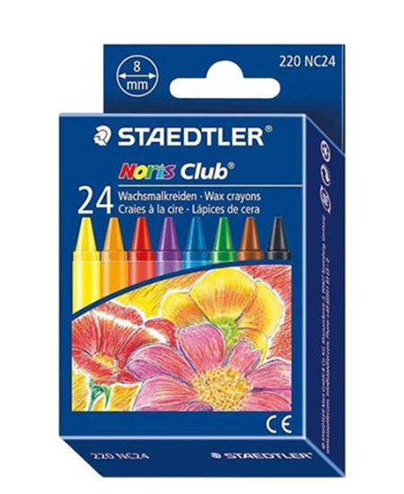 Picture of Staedtler 24 Pack Noris Wax Crayons - Multi