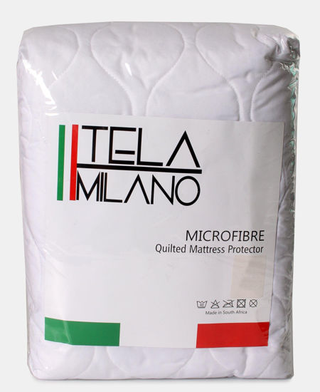 Picture of Tela Milano Single Quilted Mattress Protector - White