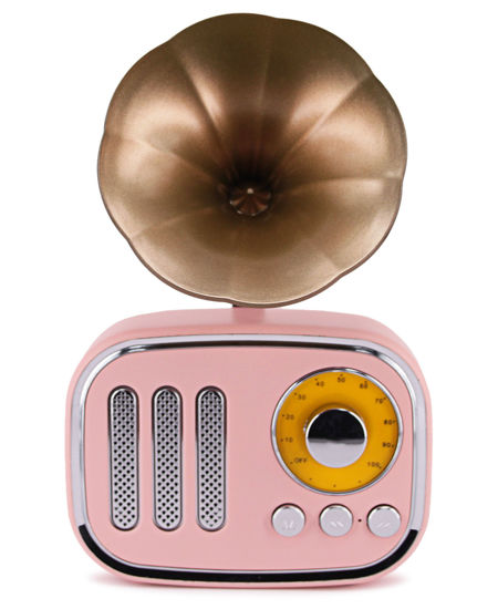 Picture of Wireless Vintage Speaker - Pink