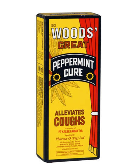Picture of Woods Cough Syrup Peppermint 100ml - Yellow