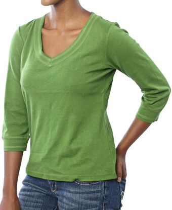 Picture of ¾ Sleeve V-Neck - Green