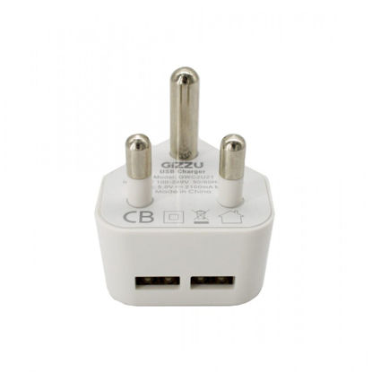 Picture of GIZZU 2 PORT USB 3-PRONG WALL CHARGER
