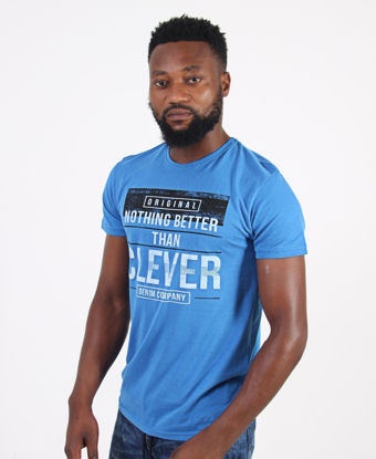 Picture of Crew Neck Graphic T-Shirt - Blue