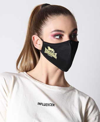 Picture of Printed 3 Ply Scuba Mask - Yellow