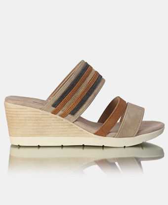 Picture of Strappy Wedge Sandals - Beige